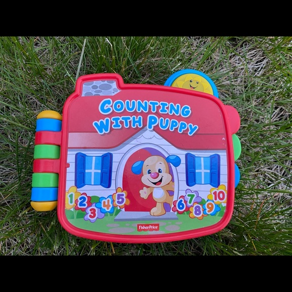 Fisher price counting puppy laugh and learn book
